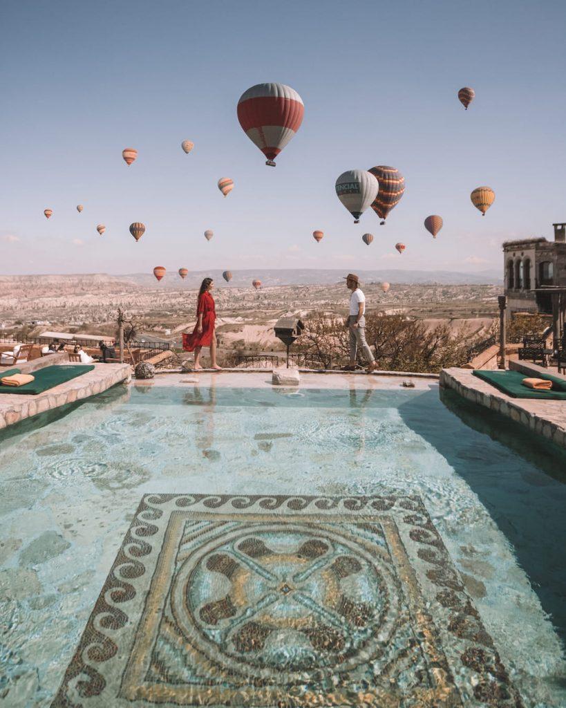 Hot Air Balloons At Cappadocia Turkey