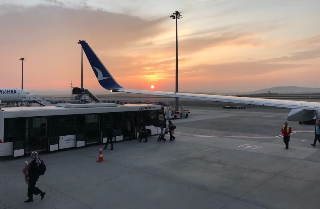 Taking the plane from Istanbul to travel through Turkey