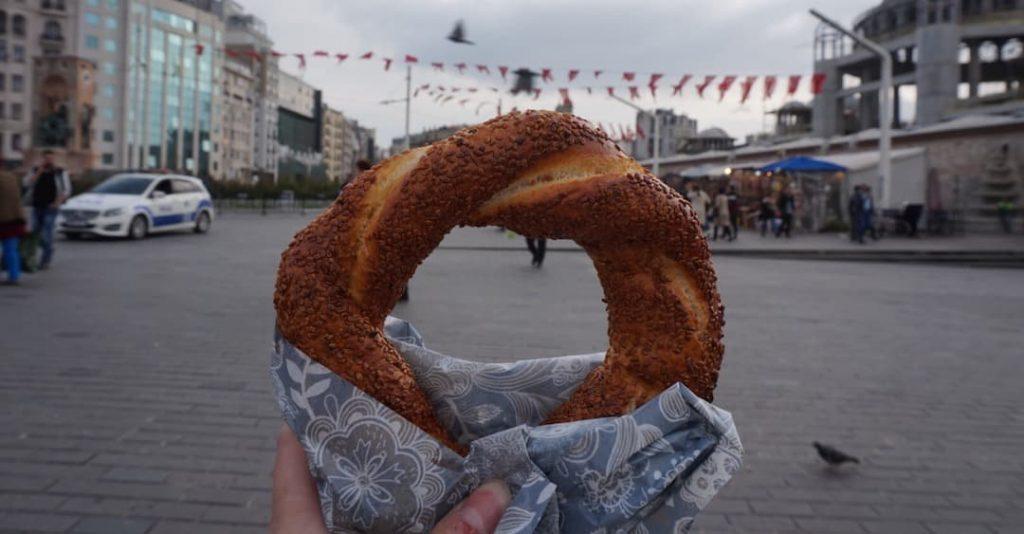 Turkish Breakfast a Simit